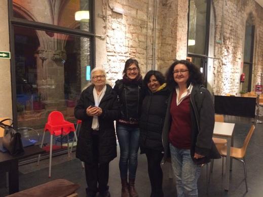 les protagonistes Maria Olivares, Mireia Foradada, Sara Cuentas i Elvira Durán! a la sortida grabació
