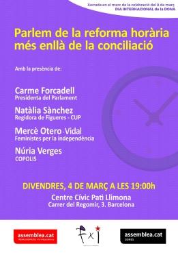 divendres 4 de març: parlem de la reforma horària més enllà de la conciliació